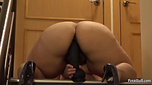 bbw Irene and huge black dildo!