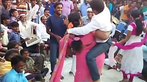 Indian BBW dance and lift carry small man