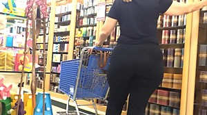 wide hips phat ass gilf black pants in..