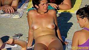 Hot Voyeur Amateur MILFs - Nudist Beach..