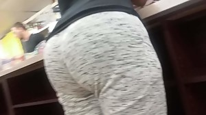 Milf at the counter
