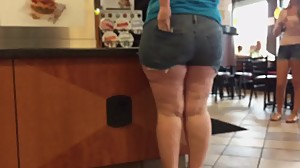 Juicy Little Shorts Candid