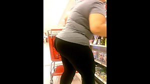 Candid Mexican chick with a big ass!
