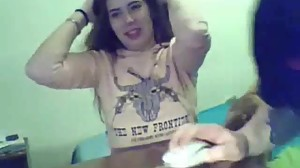 Sexy Russian Teen Hairjob live on..